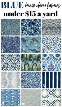 Cheap Home Decor Fabric by the Yard