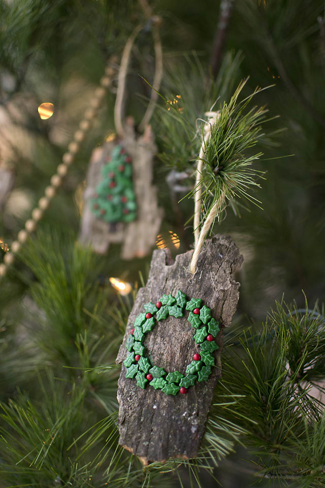 DIY Christmas Ornaments From Bark That Kids Can Make