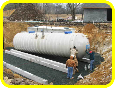 20,000 Gallon Flowtite Fiberglass Rain Water Harvesting Tank from Rain Ranchers