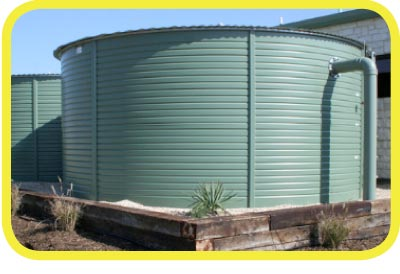 20,000 Gallon Pioneer Metal Rain Water Harvesting Tank from Rain Ranchers