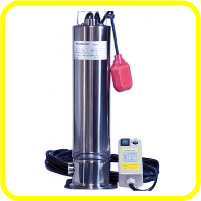 Rainmaster Subersible Rainwater Harvesting Pump from Rain Ranchers is a high performance, 2 HP submersible rainwater harvesting pump with a stainless steel base and a 1.25 inch threaded inlet for use with a floating filter.