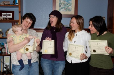 Congratulations ladies you have completed Reiki I class!!