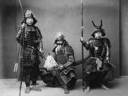 Three samurai warriors, 1600 - 1700