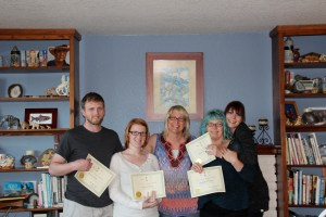 May 2014 Reiki I class (minus two camera shy) CONGRATULATIONS TO Katie, Michael, Kimberly, Stephanie, Chris and Linda.