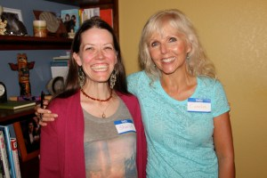 Candia with Sharon.  Sharon's smile is contagious and she was so excited to be here to hear Candia I had to include her beautiful photo in this blog.  She's an amazing soul.