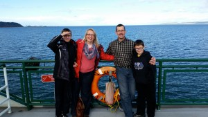 Streett Family on the Washington State Ferries going to Whidbey Island, Thanksgiving 2014