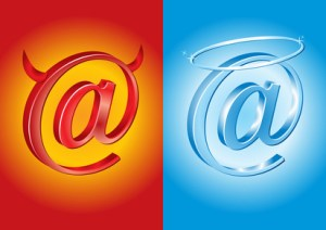 Emails can carry the good or 'bad' energy of the person who is sending them.