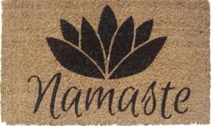 Make sure your welcome mat has good energy and message to begin with.  This one reflects the work I do.