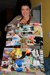 Lauren was creative AND productive, she even had pictures on the back.  They beautifully expressed her vision.