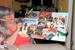 M.E.'s completed vision board.