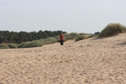 Beach walking Formby