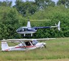 Robinson R44 and Ikarus C42