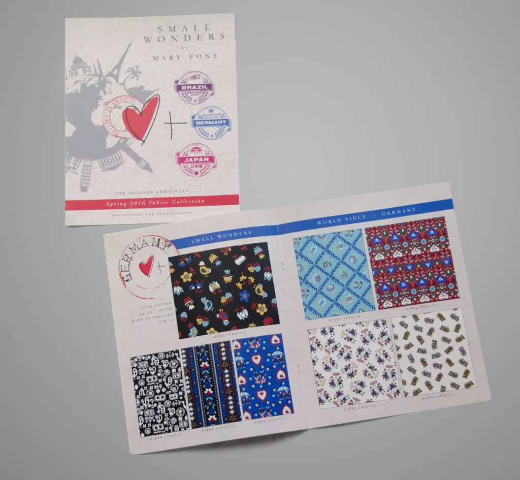 Mary Fons World Piece Catalog Layout