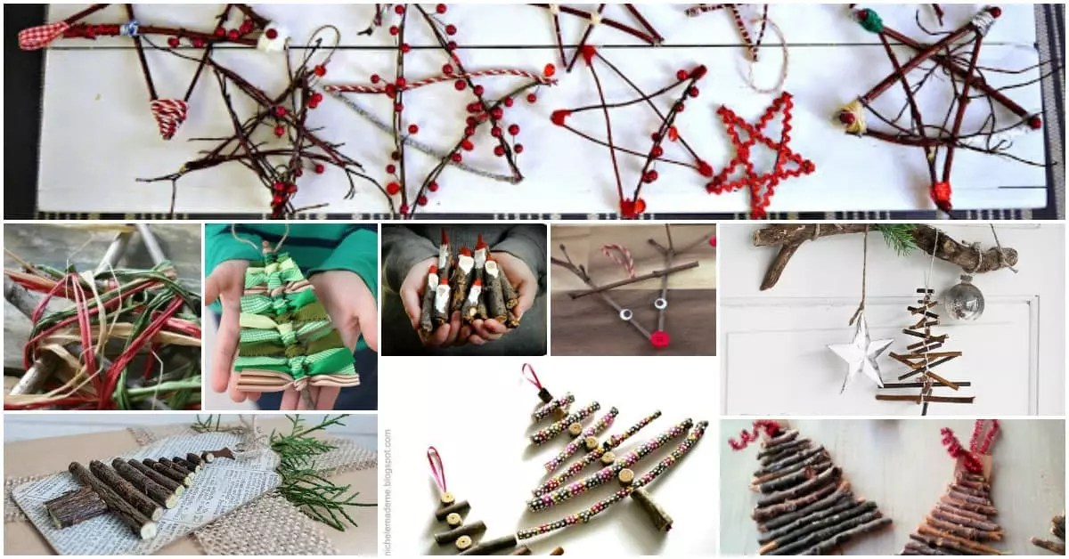 Christmas Decorations Using Twigs
