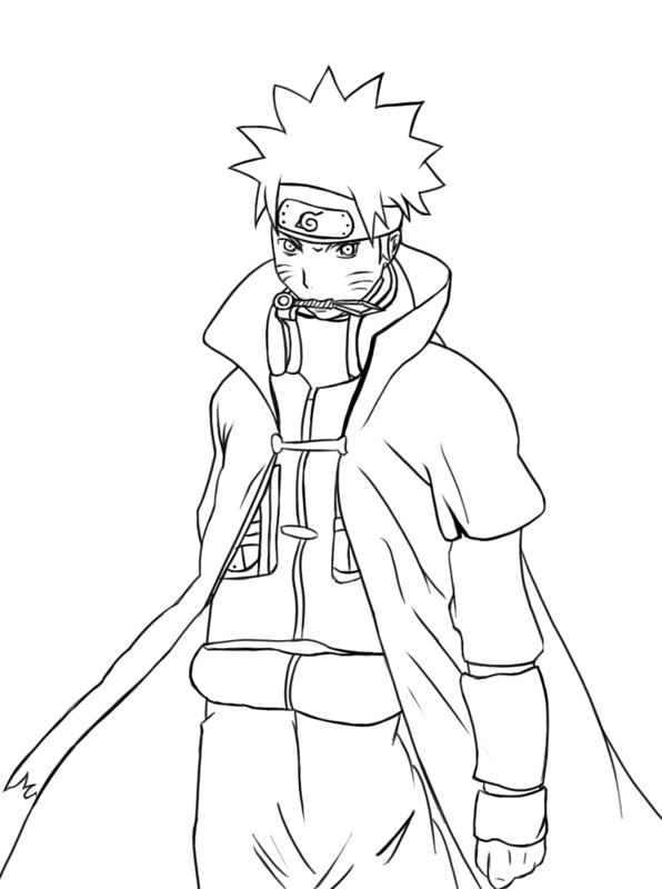 Sketsa Gambar Animasi Naruto Untuk Diwarnai Guru Kakashi 9