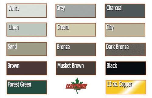 Leaf Proof Gutter Cover Color Options