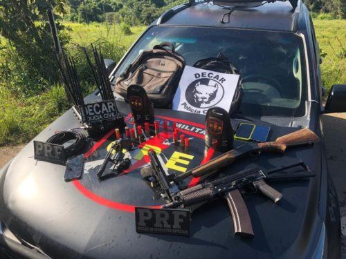 Ação da Decar, PM e PRF apreende armas de fogo; suspeitos morreram em confronto
