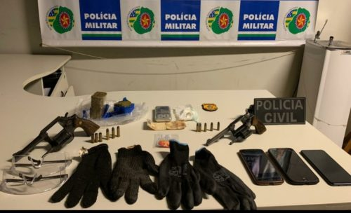 PC e PM confrontam com integrantes de associação criminosa especializada no roubo de veículos no Entorno