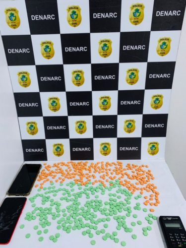 Dupla é presa em Anápolis com 500 comprimidos de ecstasy