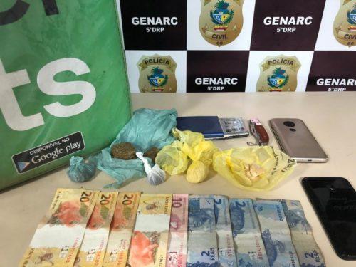 Polícia Civil prende homem que se passava por entregar de comida por aplicativo para traficar drogas