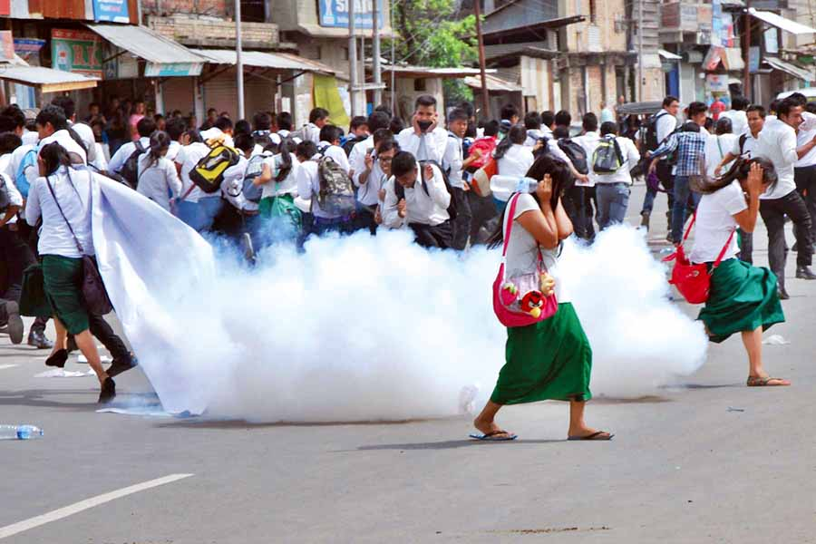 ILP agitation in Manipur via www.kanglaonline.com