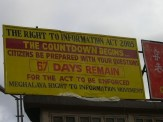 RTI Countdown signboard at Khyndai Lad parking lot