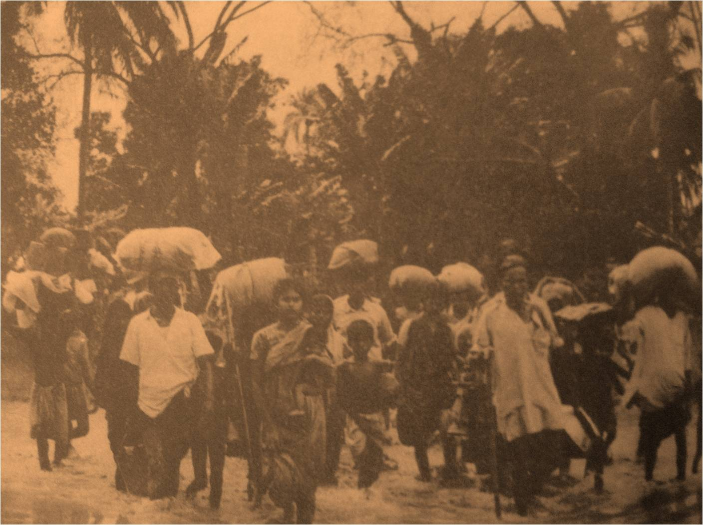 Refugees arriving in India in 1971