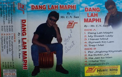 Cassette Cover of Bah U N Sun, master of Khasi words and 'Western' Music will not find a place in Standing By