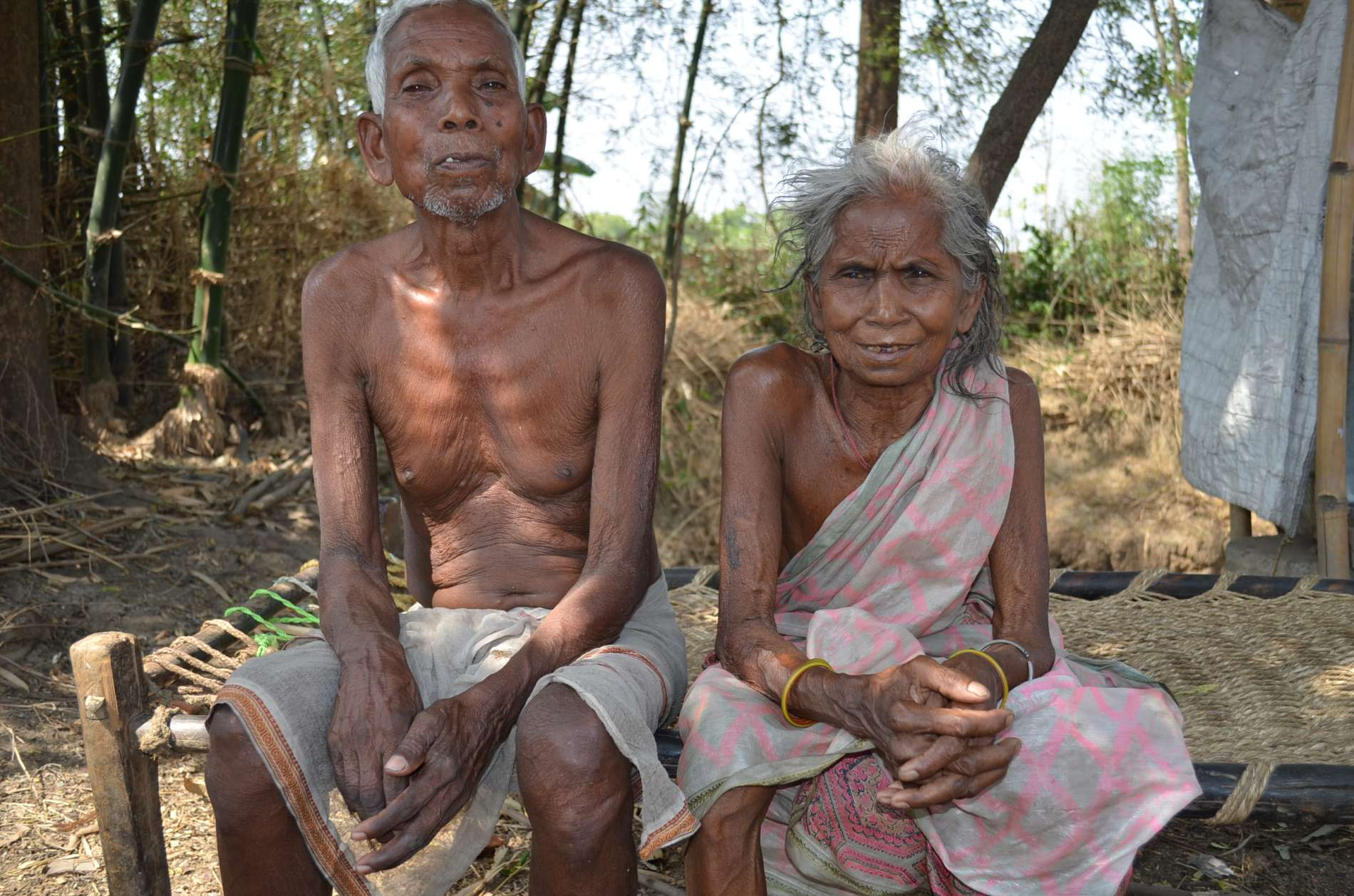 Surveys by doctors, midwives and scientists have recorded many cases of infertility in villages surrounding the uranium mines. Raju Patro, 81, and Anjani, his wife, 79, when younger, were unable to conceive and want to know if exposure to radiation was the cause. UCIL denies it. (Photo : Ashish Birulee)