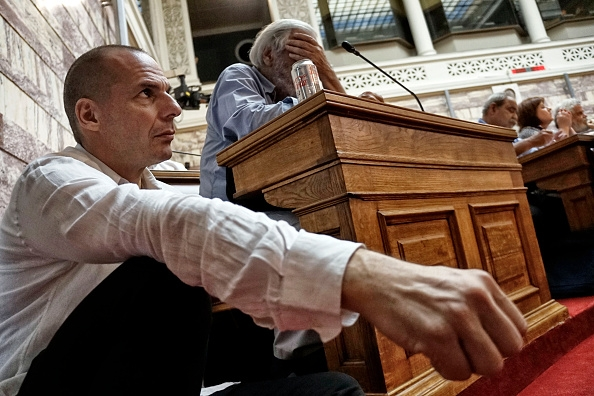 Tough talking Yanis Varoufakis wanted debt restructuring, which the Eurozone rejected.