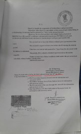 - Order dated 18.1.2012 for Misc Crl Case no 2 of 2012. But this is also used for the other case by cutting the case No