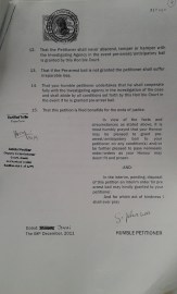 Pre Arrest Bail Petition dated 8th Dec 2011