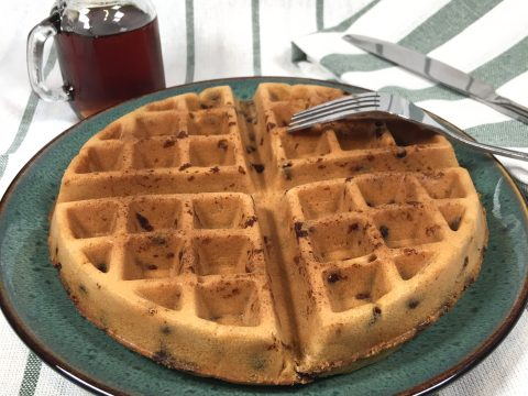 Sun Butter Chocolate Chip Waffle by The Allergy Chef