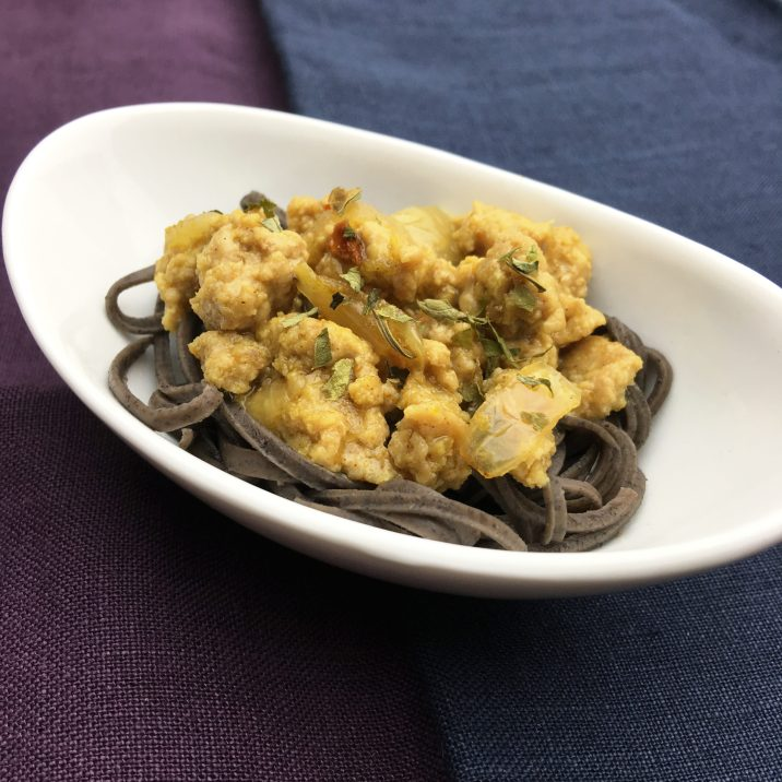 Maple Curry Pasta by The Allergy Chef