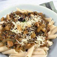Vegan Onion & Mushroom Parmesan by The Allergy Chef