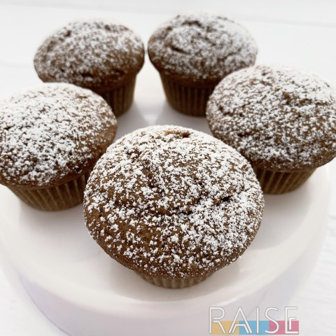 Gluten Free, Corn Free, Cinnamon Muffin-Cupcakes by The Allergy Chef