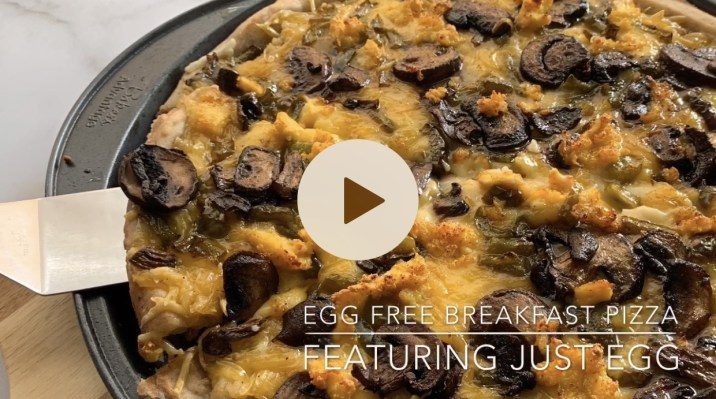Egg Free Vegan Breakfast Pizza by The Allergy Chef