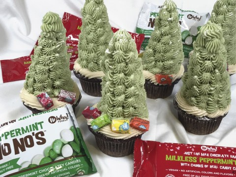 Christmas Tree Cupcakes by The Allergy Chef