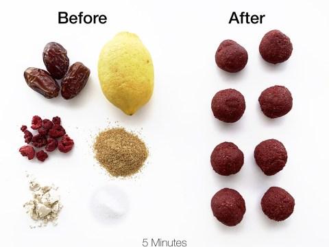 Nutrient Dense Lemon Raspberry Power Balls by The Allergy Chef