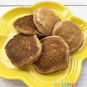 Fluffy Gluten Free, Vegan, Top 8 Free Pancakes by The Allergy Chef