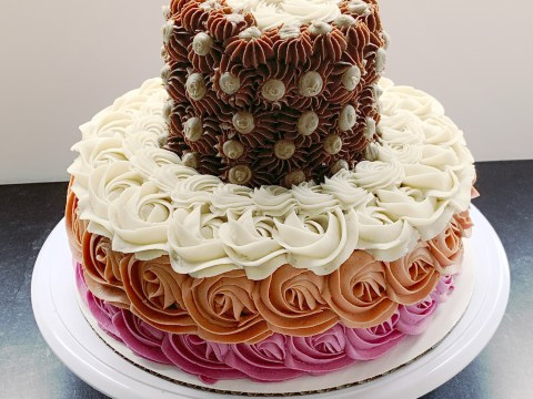 Gluten Free, Vegan, Top 8 Allergy Free Tiered Cake by The Allergy Chef