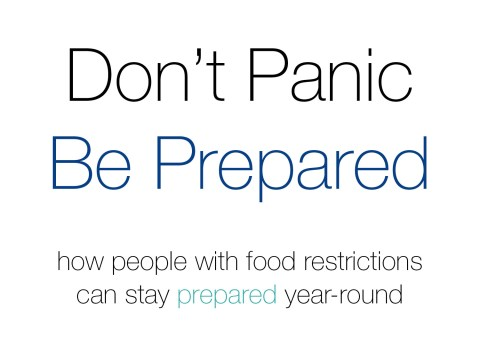 Don't Panic Be Prepared by The Allergy Chef