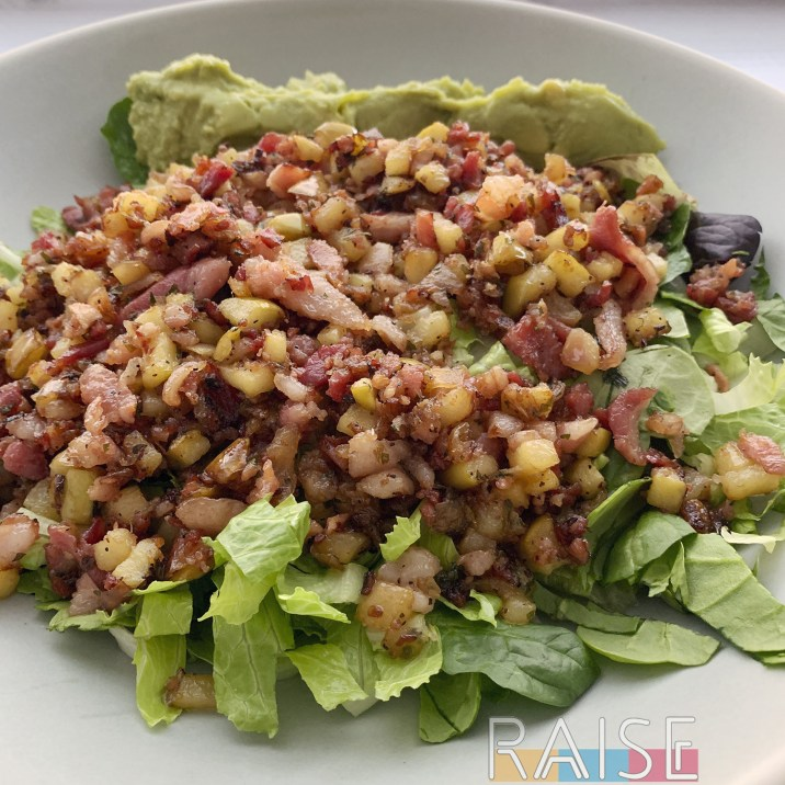 Sweet Onion Bacon Salad by The Allergy Chef