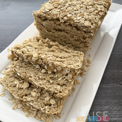 Gluten Free, Top 8 Allergy Free, Honey Oat Bread by The Allergy Chfe