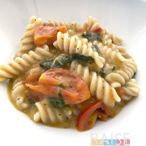 Gluten Free, Dairy Free Creamy Tomato Pasta Recipe by The Allergy Chef