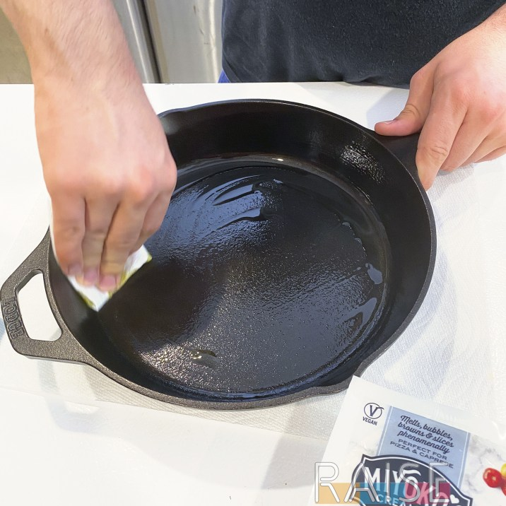 Seasoning Cast Iron Pan by The Allergy Chef