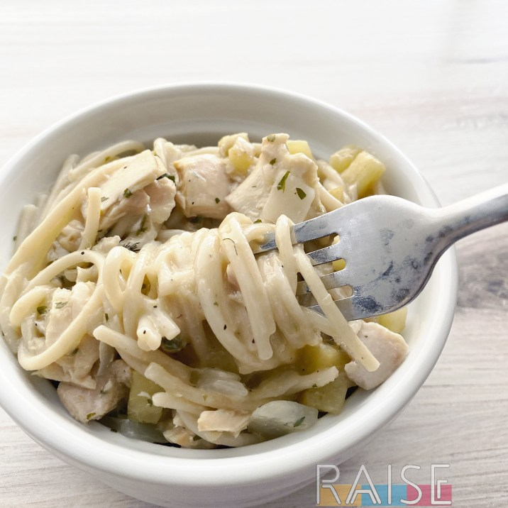 Gluten Free, Dairy Free, Creamy Tuna Pasta by The Allergy Chef