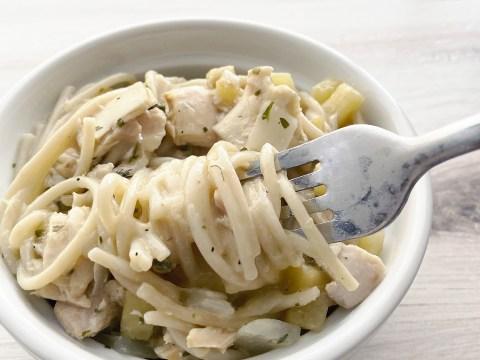 Gluten Free, Dairy Free, Creamy Tuna Pasta by The Allergy Chef