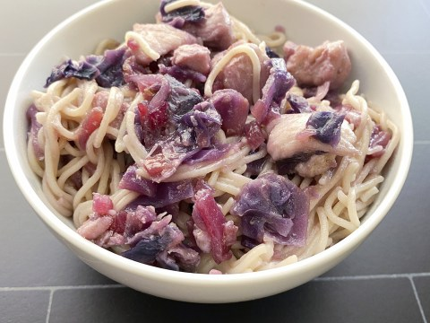 Gluten Free, Top 8 Allergy Free, Purple Cabbage & Chicken by The Allergy Chef