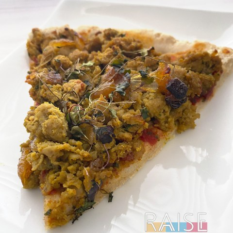 Gluten Free Curry Pizza Bread by The Allergy Chef